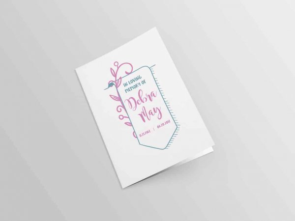 Pink Floral with Banner