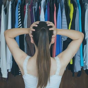 Girl hoarding clothes | Eco Bear