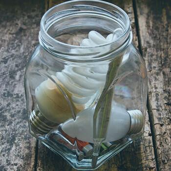 Light bulbs in a glass jar | Eco Bear